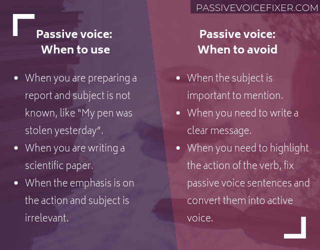 fixing passive voice app online